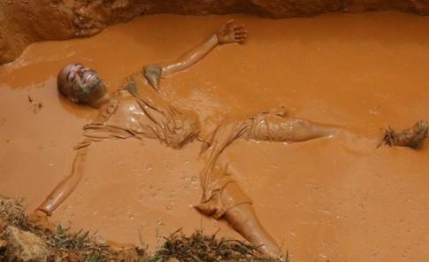 Probaron el fango en Cidra