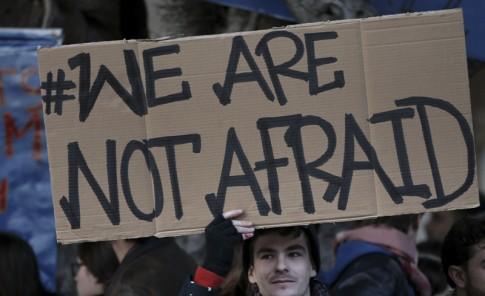 Marcha mundial por la paz en París