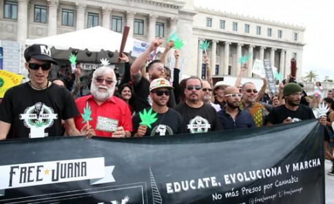 Marcha a favor de la despenalización de la marihuana en Puerto Rico