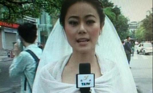 Reportera novia
