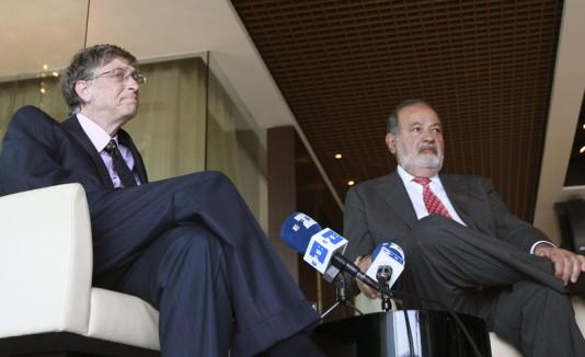 Bill Gates y Carlos Slim unen sus fortunas