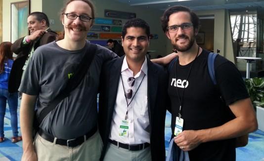 Evan Henshaw-Plath, Norberto Cruz Córdova y  Peter Shanley.