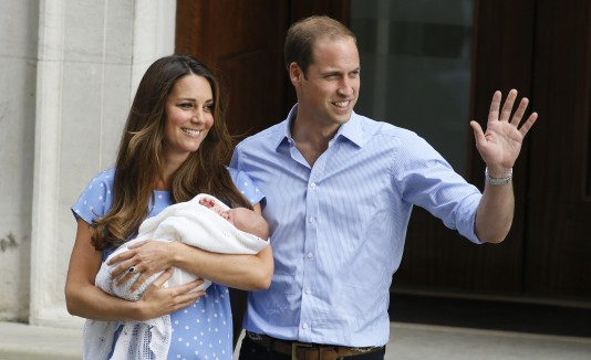 William, Kate y su hijo