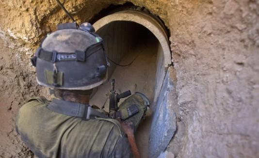 Descubren túnel subterráneo en Gaza