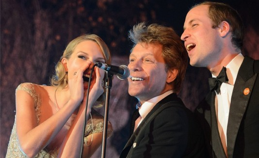 Taylor Swift, Job Bon Jovi y Príncipe Guillermo