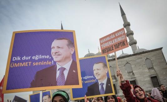 Manifestantes en Turquía