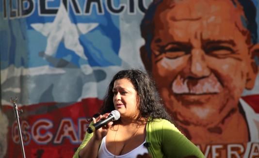 Clarisa López, hija del preso político Oscar López Rivera.