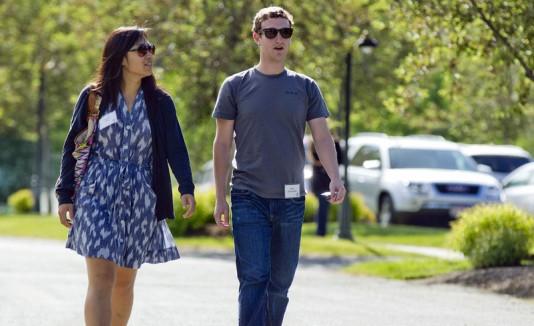 Mark Zuckerberg y su esposa Pricilla Chan