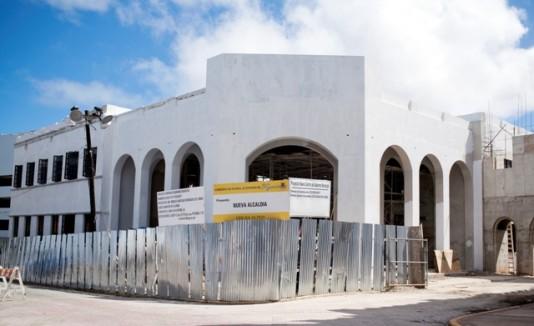 El  centro de gobierno se construye al lado de la actual alcaldía del pueblo Cariduro.