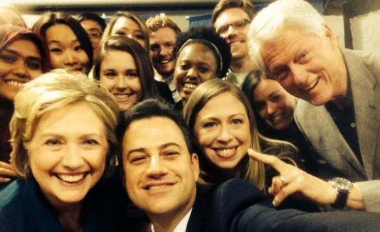 Jimmy Kimmel y los Clinton