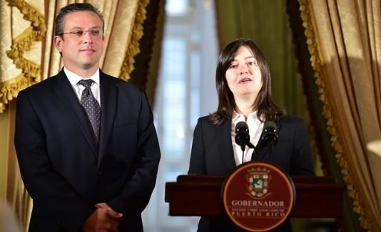 Maite Oronoz y el gobernador