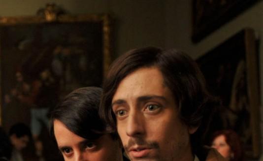 Ignacio Mateo y Jordi Vilches en su papel de Picasso y Hugué.