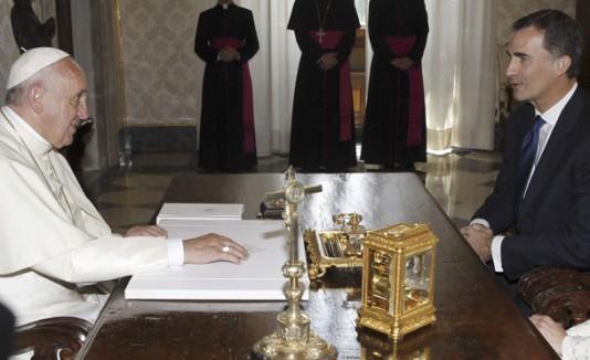 Papa Francisco y los Reyes de España