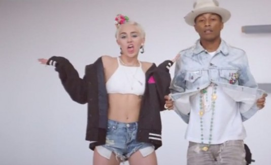 Miley Cyrus y Pharell Williams