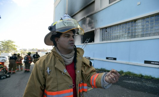 Ángel Crespo, jefe de bomberos