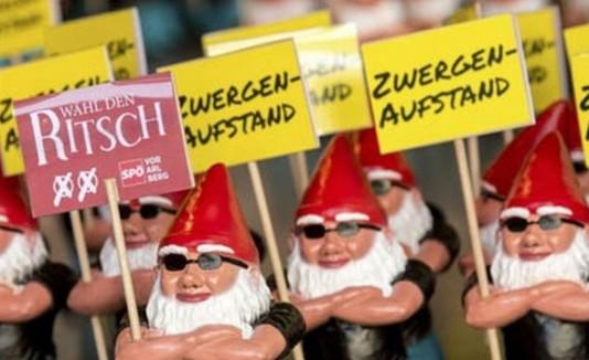 Los gnomos coolmen pertenecen a la campaña del Partido Socialdemócrata de Viena.