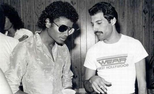 Michael Jackson y Freddie Mercury