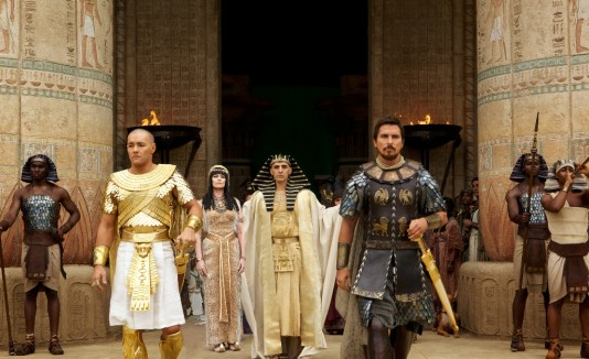 "Bale interpreta  a Moisés en el filme ""Exodus: Gods and Kings""."