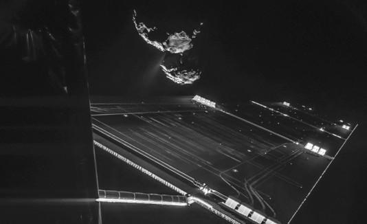 Rosetta selfie junto a cometa