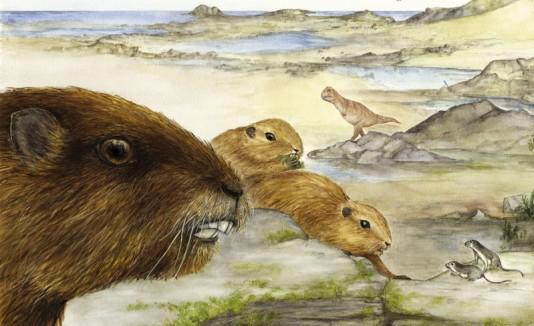 Recontrucción artística del mamífero Vintana