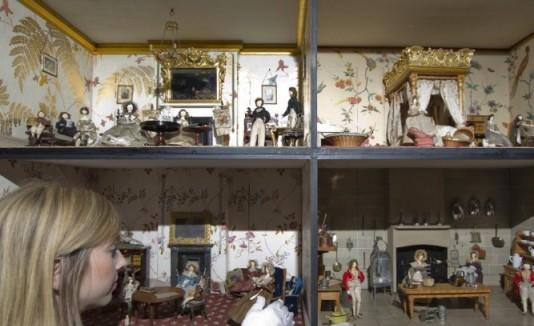La exhibición incluye sonidos propios de las casas victorianas.