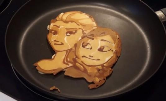 """Pancake de Elsa y Anna de """"Frozen"""""""
