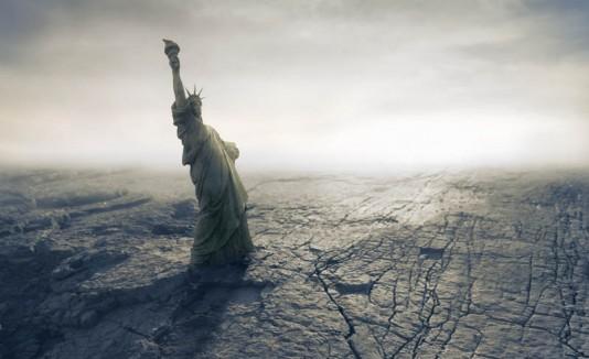 """Estatua de la Libertad en el """"fin del mundo""""."""