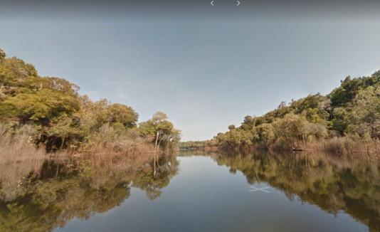 Río Mariepauá visto desde Google Maps.