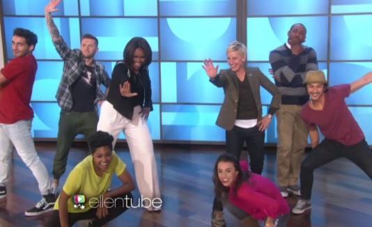 Ellen DeGeneres y Michelle Obama