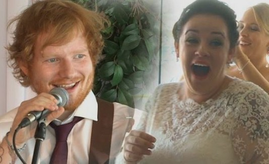 Ed Sheeran y una novia