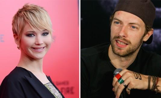 Jennifer Lawrence y Chris Martin.