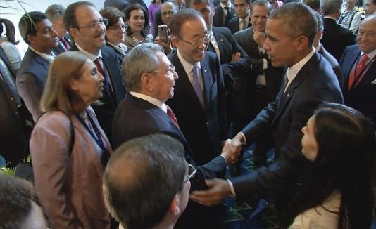 Castro y Obama, cumbre de las americas