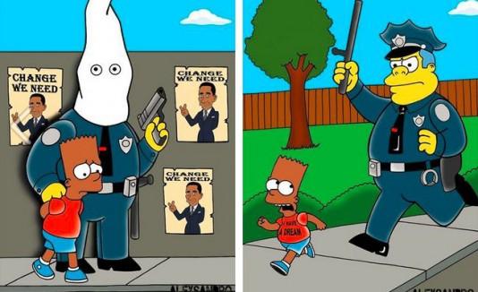 The Simpsons contra el racismo