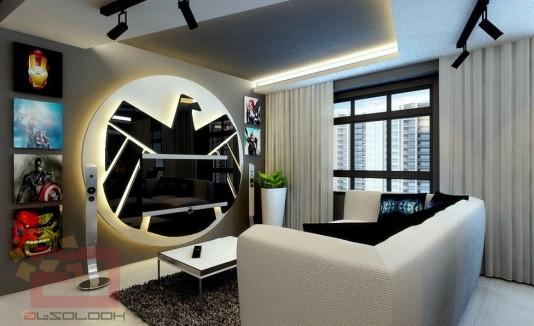 """Sala con diseño de """"The Avengers"""""""