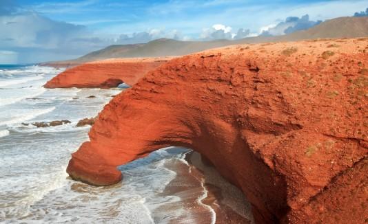 Playa Legzira en Marruecos.
