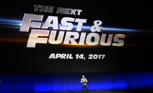 "El actor Vin Diesel anunciado la octava parte de ""The Fast and the Furious"", en el CinemaCon 2015."