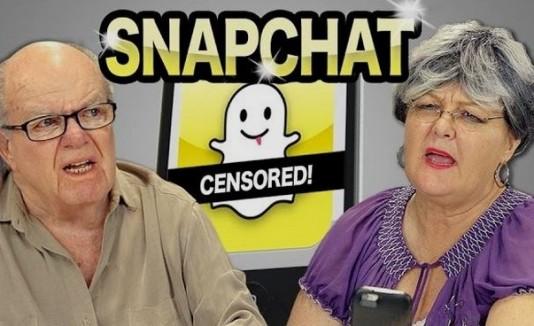 Ancianos reaccionan a Snapchat