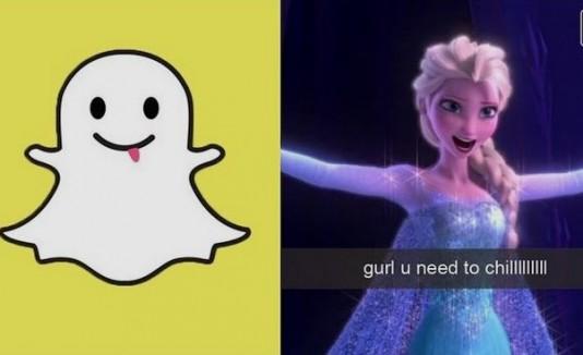 Princesas de Disney con Snapchat