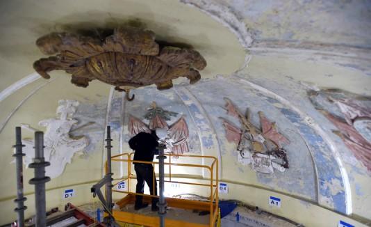 Láminas de oro en cúpula de La Fortaleza