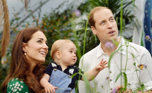 Kate Middleton, el príncipe George y príncipe William