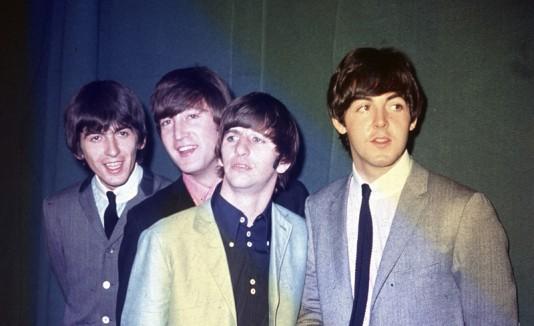 The Beatles durante su primer tour en Estados Unidos, en 1964