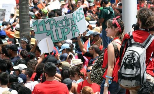 Protesta UPR
