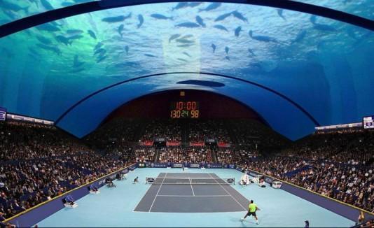 Cancha de tenis submarina