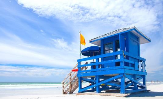 Siesta Beach, en el oeste de Florida