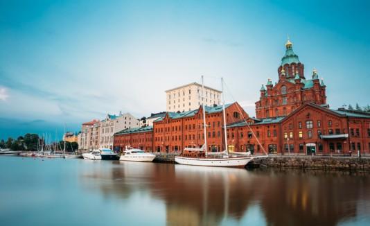 Terraplén en Helsinki, Finlandia