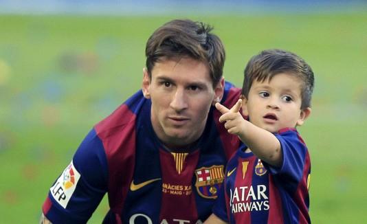 Thiago con Messi