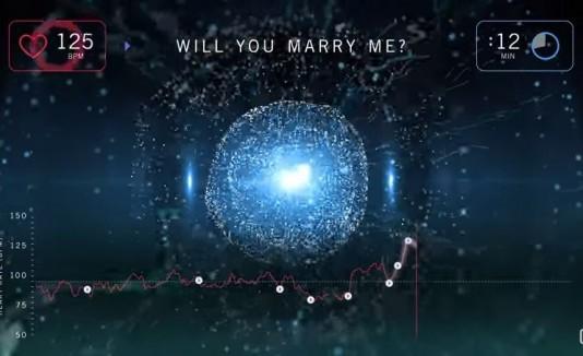 Así late el corazón de un hombre al pedir matrimonio