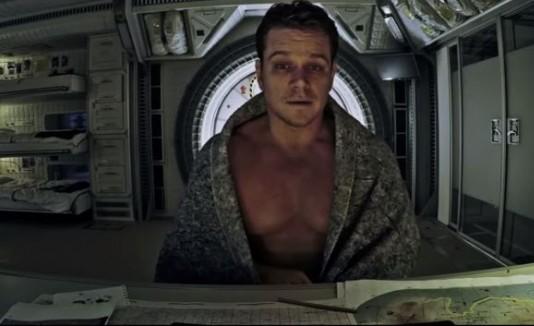 "Matt Damon en ""The Martian"""