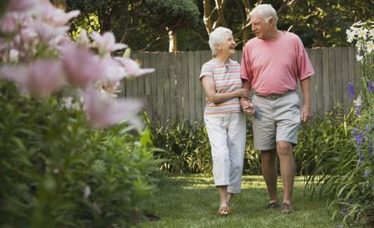 Abuelos o pareja mayor