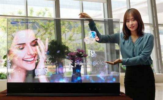 Samsung presentó una pantalla transparente